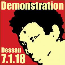 Demo 07.01.2018 - 14 Uhr Dessau - Oury Jalloh - das war Mord