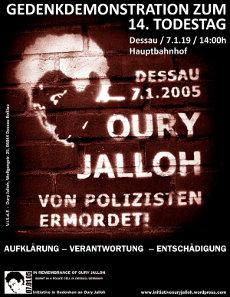 Mo. 07.01.2018 - 14 Dessau Hbf - Gedenkdemonstration zum 14. Todestag von Oury Jalloh