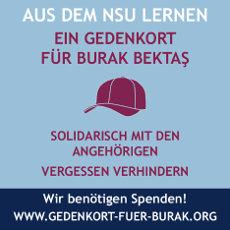 Kampagne für einen Gedenkort Burak Bektaş