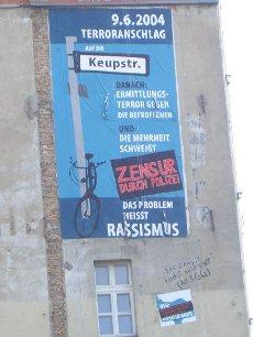 Berliner Landeskriminalamt lässt Wandbild zum zehnten Jahrestag des NSU-Nagelbombenanschlages in Köln zerstören